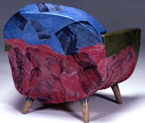 painted chair with photos
